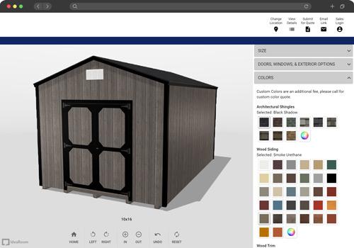 shed builder mockup